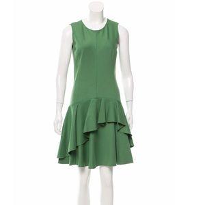 HALSTON HERITAGE Sleeveless Ruffle-Accepted Dress